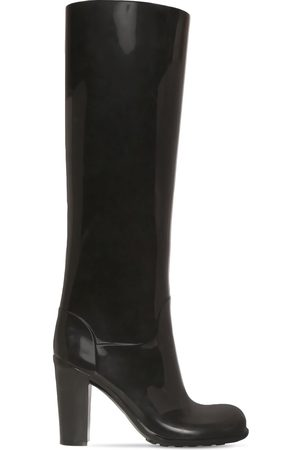 Bottega Veneta 90mm Shine Rubber Tall Boots
