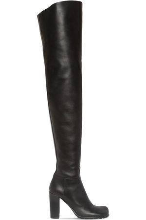 Bottega Veneta Women Thigh High Boots - 90mm Storm Leather Over-the-knee Boots