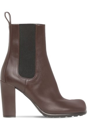 Bottega Veneta Women Chelsea Boots - 90mm Storm Leather Chelsea Boots