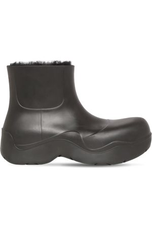 Bottega Veneta Men Ankle Boots - Puddle Rubber & Shearling Ankle Boot