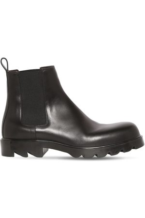 Bottega Veneta Men Ankle Boots - Strut Leather Ankle Boot