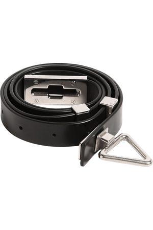 Bottega Veneta 2cm Point Lock Leather Belt