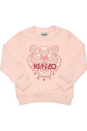 Kenzo Girls Sweatshirts - Embroidered Tiger Cotton Sweatshirt