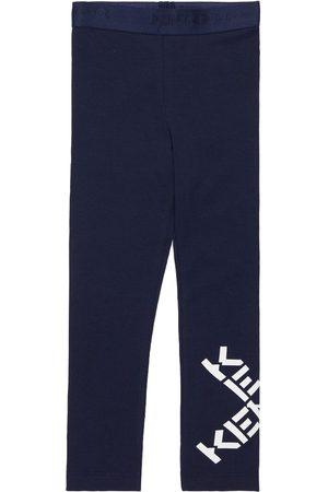 Kenzo Logo Print Organic Cotton Blend Leggings