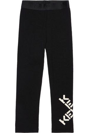 Kenzo Logo Print Cotton Blend Leggings