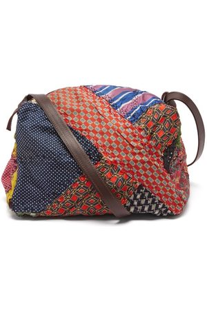 BY WALID Men Travel Bags - Panelled Silk And Wool Holdall - Mens - Multi
