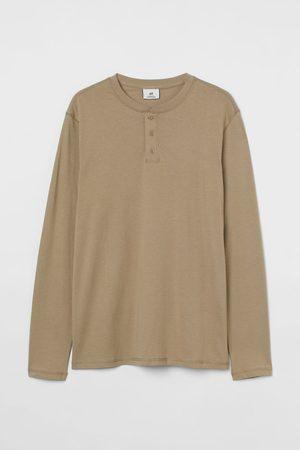 H&M Men Shirts - Regular Fit Henley Shirt