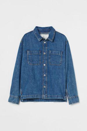 H&M Kids Denim Jackets - Cotton Denim Shirt Jacket