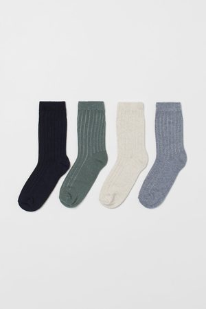 H&M Kids Socks - 4-pack Ribbed Socks