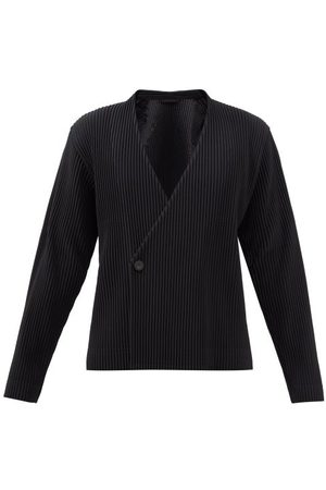 HOMME PLISSÉ ISSEY MIYAKE Men Blazers - Double-breasted Technical-pleated Blazer - Mens