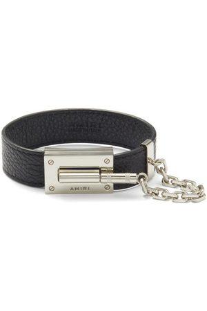 AMIRI Jax Grained-leather Bracelet - Mens