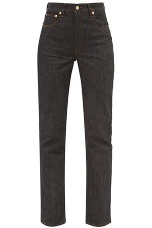 Jacquemus High-rise Flared-leg Jeans - Womens - Dark Denim