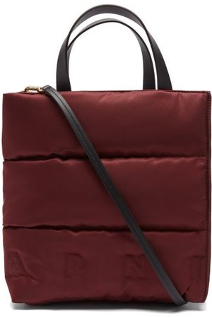 Marni Women Purses - Museo Small Quilted Nylon And Leather Tote Bag - Womens - Dark