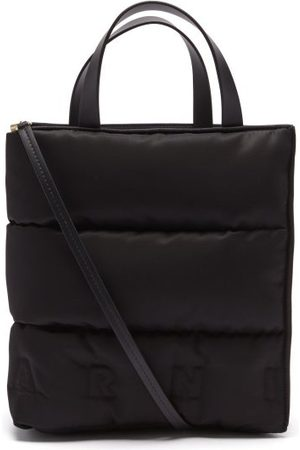 Marni Museo Small Quilted Nylon And Leather Tote Bag - Womens