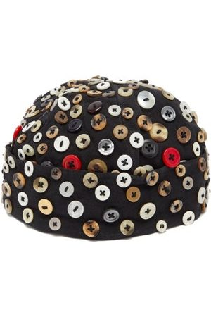 BY WALID Men Hats - Upcycled Vintage-button Wool Hat - Mens - Multi