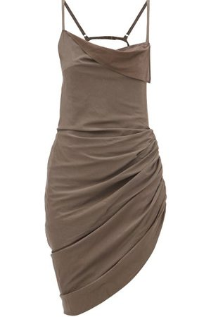 Jacquemus Saudade Scoop-back Poplin Mini Dress - Womens - Light