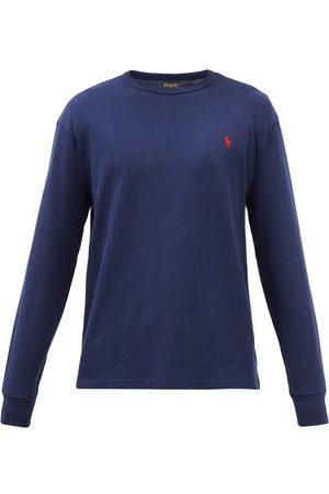 Polo Ralph Lauren Logo-embroidered Cotton-jersey Long-sleeve T-shirt - Mens - Navy