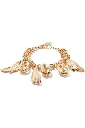 ELISE TSIKIS Women Bracelets - Herode Shell-charm 24kt -plated Chain Bracelet - Womens