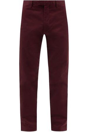 Polo Ralph Lauren Men Chinos - Slim-fit Cotton-blend Chino Trousers - Mens - Burgundy