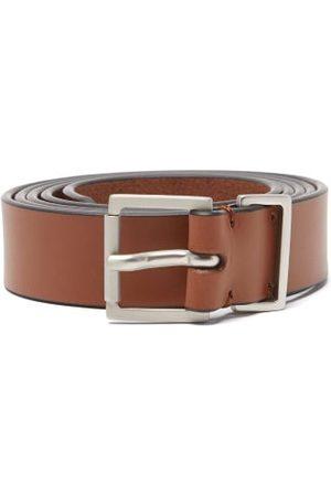 Maison Margiela Logo-stitch Leather Belt - Mens