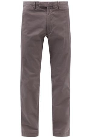 Polo Ralph Lauren Men Chinos - Slim-fit Stretch-cotton Chino Trousers - Mens - Grey