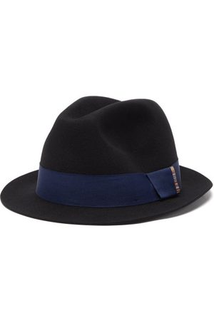 Paul Smith Artist-stripe Wool-felt Fedora Hat - Mens