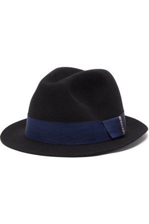 Paul Smith Men Hats - Artist-stripe Wool-felt Fedora Hat - Mens