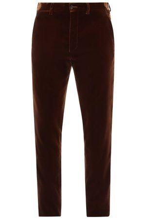 Armani Velvet Straight-leg Trousers - Mens