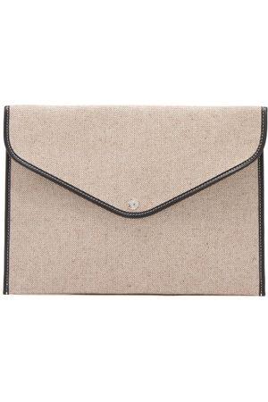 Rue de Verneuil Women Purses - Enveloppe Xl Leather-trim Cotton-canvas Pouch - Womens