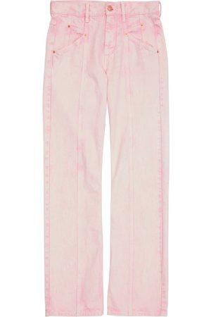 Isabel Marant Jackomosr Panelled Slim-leg Jeans - Mens - Light