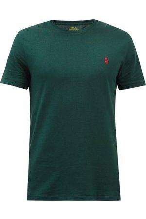 Polo Ralph Lauren Logo-embroidered Cotton-jersey T-shirt - Mens - Dark