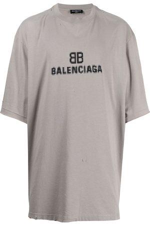 Balenciaga Logo-print short-sleeve T-shirt - Grey