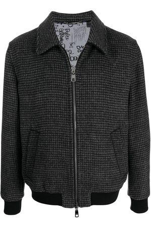 Dolce & Gabbana Men Bomber Jackets - Houndstooth wool-blend jacket