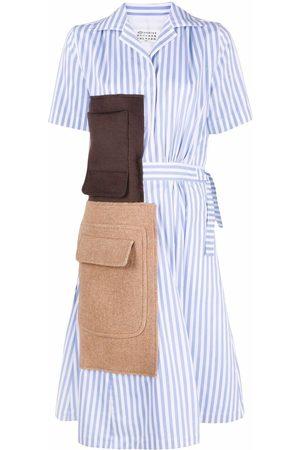 Maison Margiela Women Casual Dresses - Panelled striped shirtdress