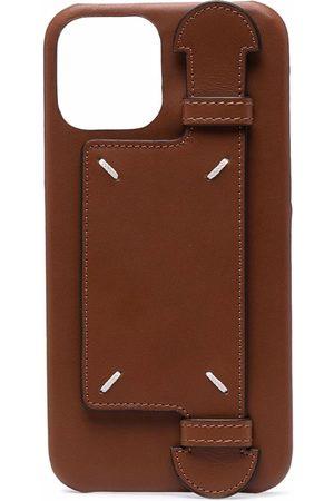 Maison Margiela Men Phones Cases - Contrast-stitching iPhone 12 Pro leather case