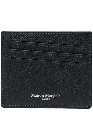 Maison Margiela Men Wallets - Logo-print leather cardholder