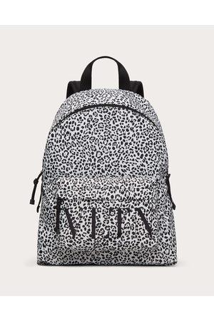 VALENTINO GARAVANI Men Rucksacks - Vltn Animalier Backpack In Nylon Man / 50% Cotton 50% Linen OneSize