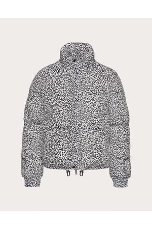 VALENTINO Men Jackets - Nylon Down Jacket With Animalier Print Man / 100% Poliammide 44