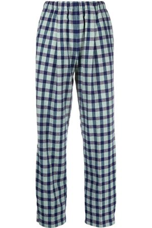 FORTE FORTE Women Straight Leg Pants - Checked wool-blend trousers