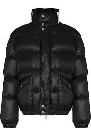 Alexander McQueen Men Puffer Jackets - Graffiti logo-print padded jacket