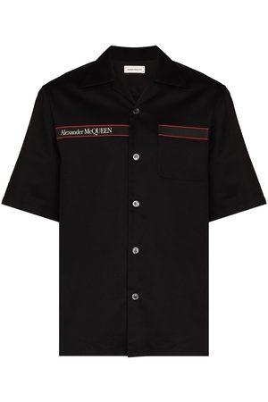 Alexander McQueen Logo-tape short-sleeve shirt