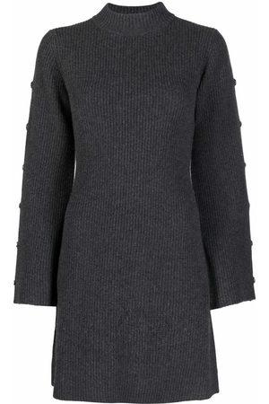 Sandro Janet knitted mini dress - Grey