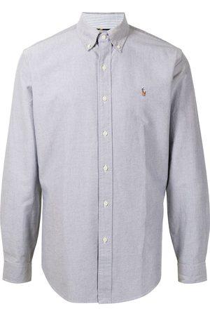 Polo Ralph Lauren Embroidered-motif long-sleeve shirt - Grey