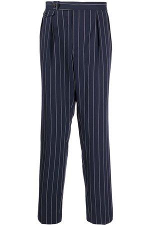 Polo Ralph Lauren Men Wide Leg Pants - Wide pinstripe straight-leg trousers