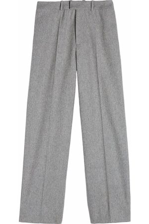 OFF-WHITE Straight-leg tailored trousers - Grey