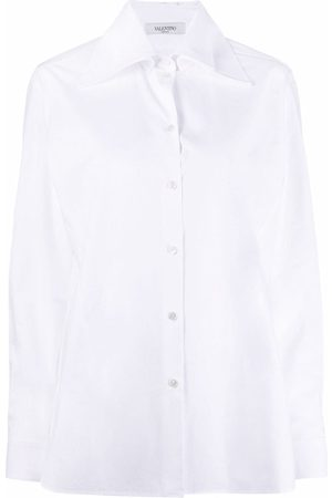 VALENTINO Women Shirts - Oversized pointed-collar button-front shirt