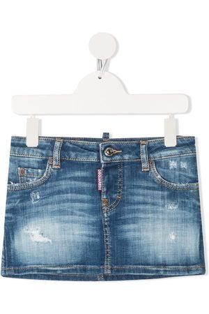Dsquared2 Girls Denim Skirts - TEEN distressed denim skirt