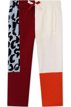 Dolce & Gabbana Boys Pants - Drawstring contrast-panel trousers