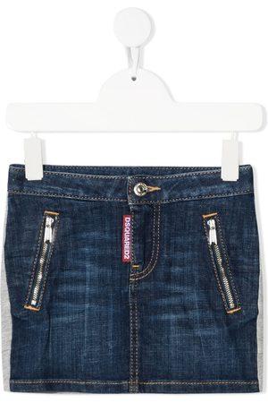 Dsquared2 Girls Denim Skirts - Contrasting-panel skirt