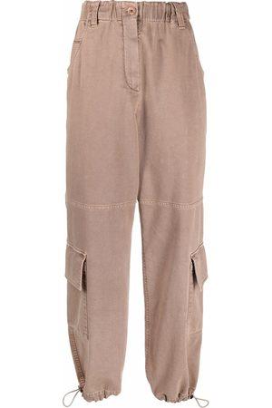 Brunello Cucinelli Women Cargo Pants - Mid-rise cargo trousers - Neutrals